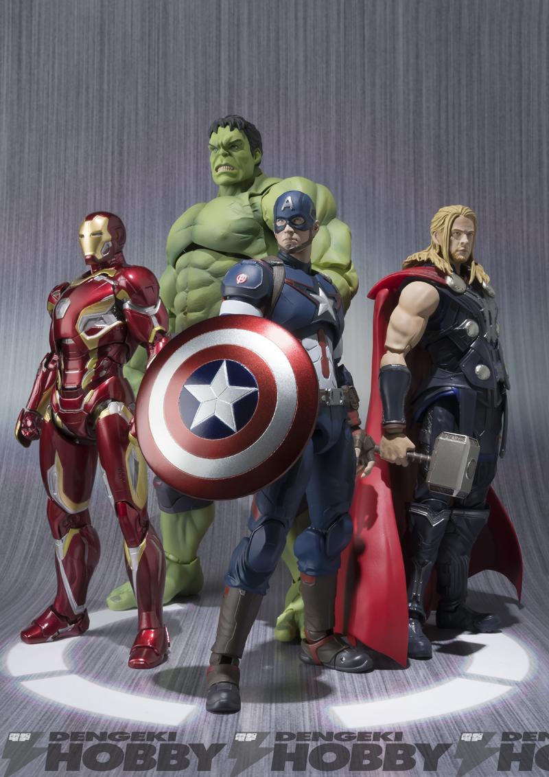 S.H.Figuartsに「キャプテン・アメリカ」「ハルク」「アイアンマンマーク45」「マイティ・ソー」登場