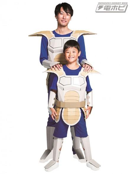 着れちゃう!ダンボール ドラゴンボールZ  戦闘服編 子供用/大人用 装着イメージ