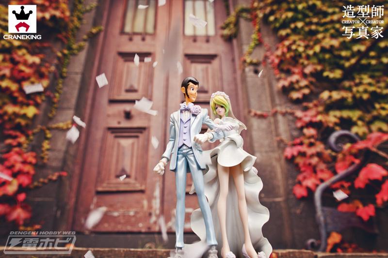 ルパン三世』が登場! 造型師・鬼山尚丈氏と写真家・Rina Kakioka Kusters氏のタッグにより、アニメ第1話のルパンとレベッカ嬢の 結婚式が華やかに再現されます!