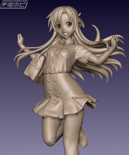 夏季制服亚丝娜手办3D模型首度公开