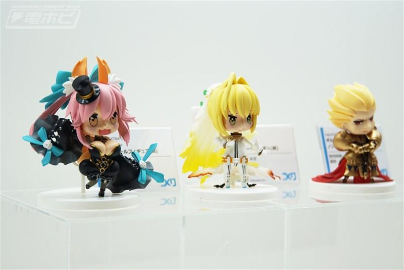 Tukuriブースでは、『Fate/EXTRA CCC』よりキャスター、セイバー、ギルガメッシュのノンスケールフィギュアの彩色見本が初展示!