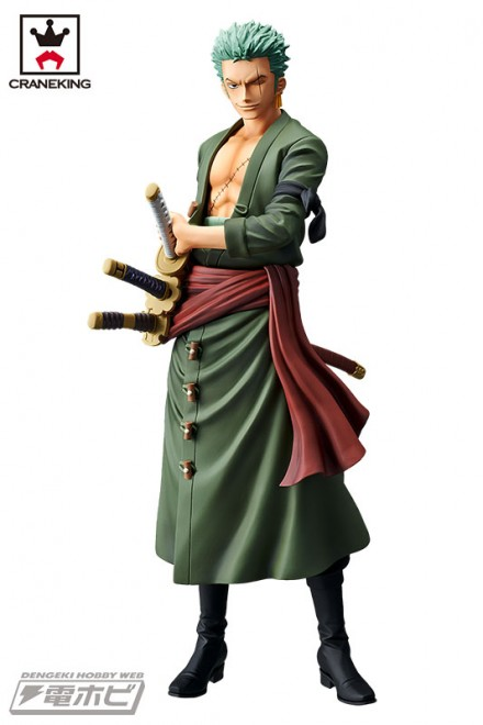 『ワンピース』バンプレストの特大プライズフィギュア「Grandista」シリーズにロロノア・ゾロが三刀をひっさげて見参!