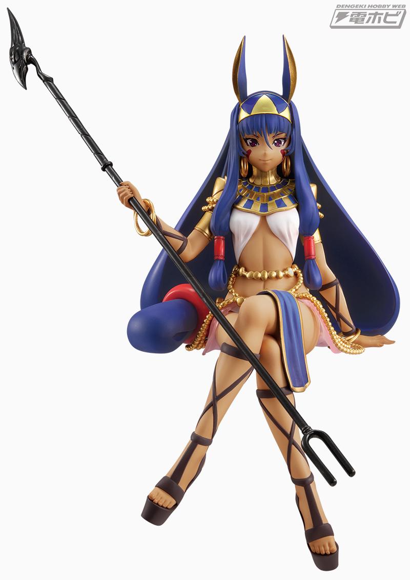 『Fate/Grand Order』では第六特異点「神聖円卓領域 キャメロット」に登場したキャスター/ニトクリスが、フリューの人気プライズ「 ぬーどるストッパーフィギュア」で