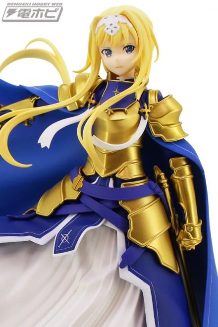 凛とした表情や黄金の甲冑も再現した『ソードアート・オンライン アリシゼーション』整合騎士・アリスがフリューからプライズフィギュア化!